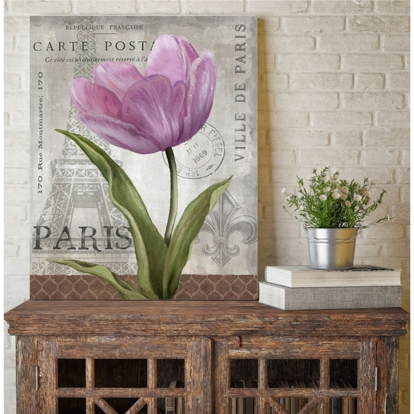 Courtside Market Paris Pink I Gallery Wrapped Canvas Wall Art - 24x30