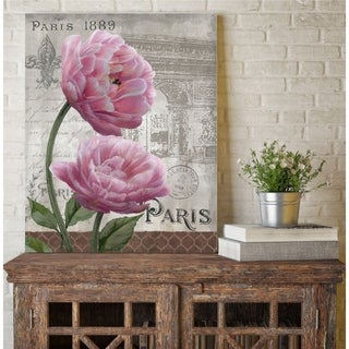 Courtside Market Paris Pink  II Gallery Wrapped Canvas Wall Art - 24x30