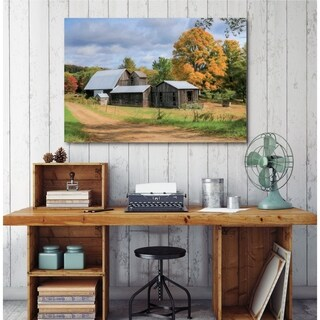 Courtside Market Fall in Rural PA Gallery Wrapped Canvas Wall Art - 12x18