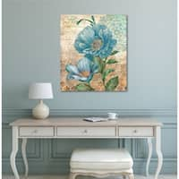 Courtside Market Paris Blue I Gallery Wrapped Canvas Wall Art - 24x30
