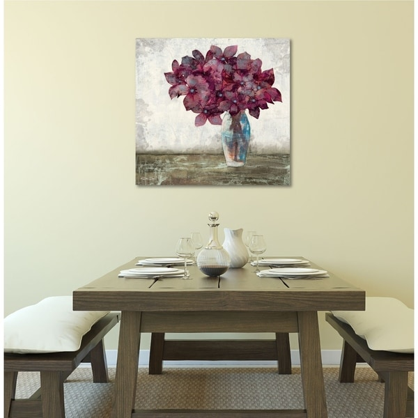 Courtside Market Purple Flowers Vase Gallery Wrapped Canvas Wall Art - 36x36