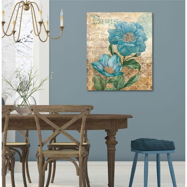 Courtside Market Paris Blue II Gallery Wrapped Canvas Wall Art - 32x40
