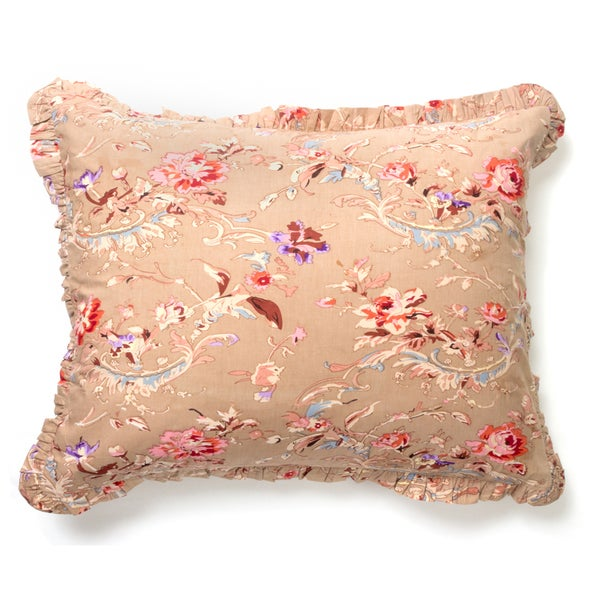 Rebecca Taupe Floral Sham (insert not included)