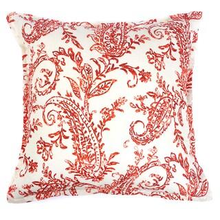 Karen Cotton 18-inch Paisley Throw Pillow