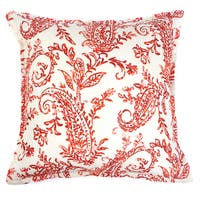 Karen Cotton 18-inch Paisley Throw Pillow