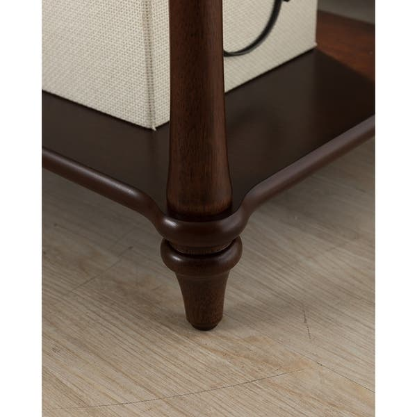Regency Side Table With Charging