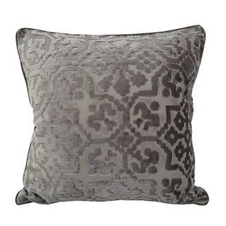Kingray Furniture and Pillows Damask Decorative Cut Velvet 20-inch Throw Pillow