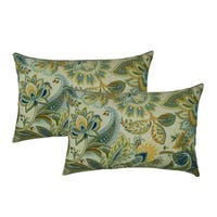 Sherry Kline Spring Leaves Green Outdoor BoudoirThrow Pillow (Set of 2)