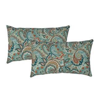 Sherry Kline Paisley Blue Outdoor BoudoirThrow Pillow (Set of 2)