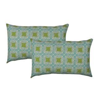 Sherry Kline Circle Time Blue Outdoor BoudoirThrow Pillow (Set of 2)