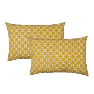 Sherry Kline Hockley Yellow Outdoor BoudoirThrow Pillow (Set of 2)