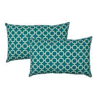 Sherry Kline Hockley Teal Outdoor BoudoirThrow Pillow (Set of 2)