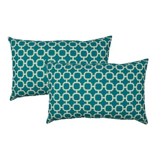 Sherry Kline Hockley Teal Outdoor BoudoirThrow Pillow (Set of 2)