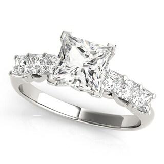 14k White Gold Diamond Princess-cut Engagement Ring (1.60ct)