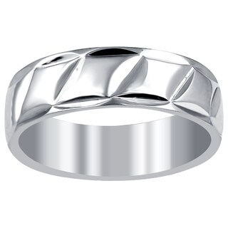 Orchid Jewelry Men's Stainless Steel High Polished Wedding Band Ring