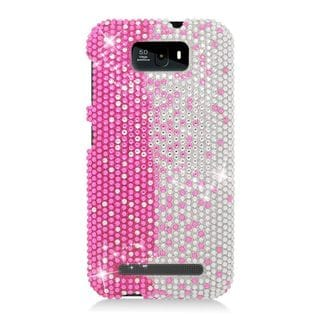Insten Pink/ Silver Hard Snap-on Diamond Bling Case Cover For BLU Studio 5.5