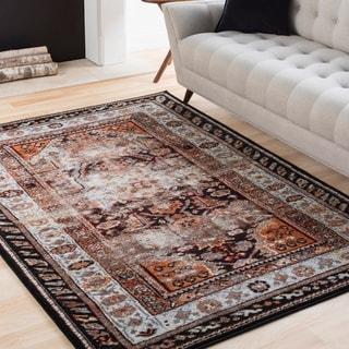Trocadero Brown Contemporary Persian Area Rug (7'10 x 10'6)