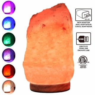 Himalayan Glow Mini USB Ionic Salt Crystal Lamp with Adapter