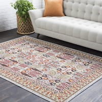"The Curated Nomad Gladys Pink Oriental Persian Area Rug - 7'10"" x 10'3"""