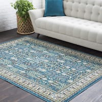 Laurel Creek Cecil Oriental Border Area Rug - 5'3 x 7'6