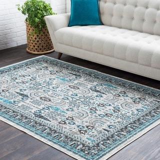 """Trocadero Grey Contemporary Persian Area Rug - 7'10"""" x 10'3"""""""