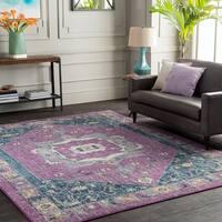 Trocadero Purple Vintage Persian Area Rug (7'10 x 10'3)