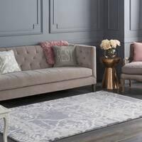 Colonial Home Grey Modern Abstract Wool Handmade Area Rug - 8' x 10'