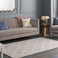 Colonial Home Grey Contemporary Trellis Handmade Area Rug - 7'6 x 9'6