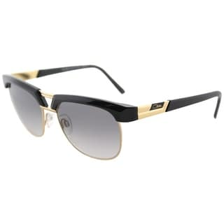 Cazal Unisex Cazal Black Gold Frame and Grey Gradient Lens Square Sunglasses