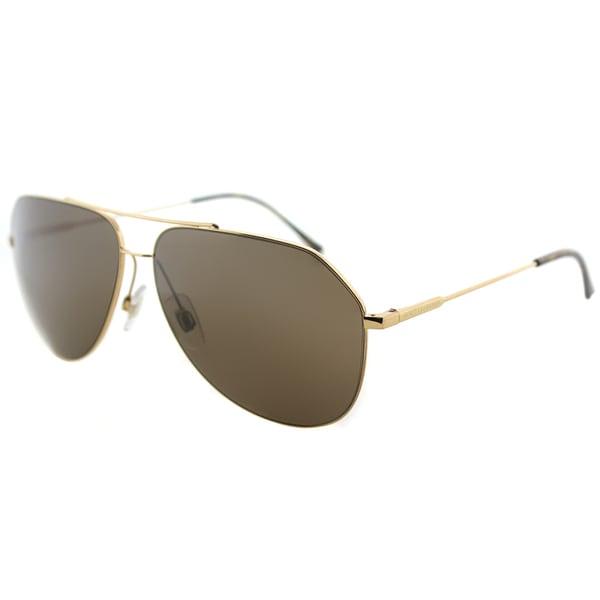 13cb75333bb Dolce  amp  Gabbana Unisex DG 2129 02 73 Gold Frame and Brown Lens Aviator