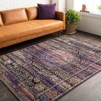 "Trocadero Purple Vintage Persian Area Rug - 7'10"" x 10'"