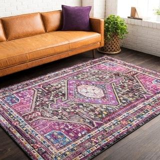 "Haute Hali Pink Bohemian Oriental Area Rug - 7'10"" x 10'"