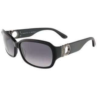 Salvatore Ferragamo SF608S Black Rectangle Frame Black Lens Sunglasses|https://ak1.ostkcdn.com/images/products/16795339/P23100681.jpg?impolicy=medium
