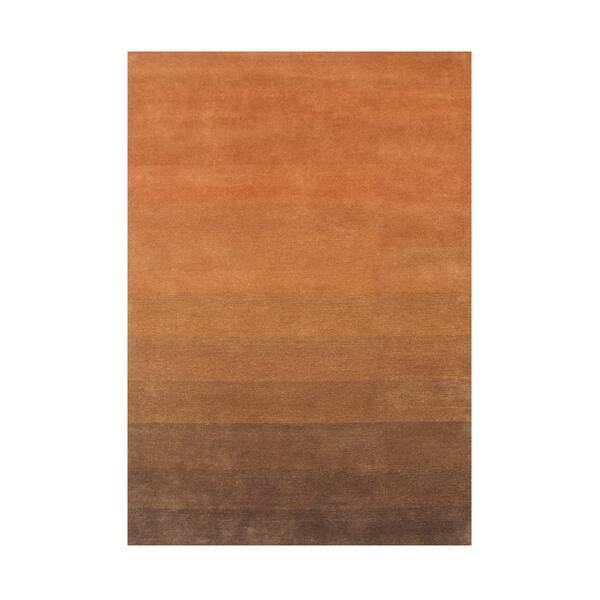 Alliyah Rugs Caramel New Zealand Blend Wool Area Rug 5 X 8