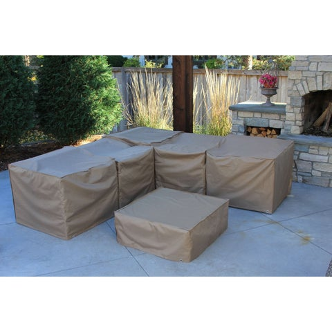Pillsbury Patio Furniture Premium Outdoor Storage Covers (Set of 7)