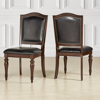 LaSalle Espresso Nail Head Accent Transitional Dining Side Chairs (Set of 2) by iNSPIRE Q Classic (As Is Item)