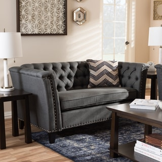 Contemporary Fabric Loveseat by Baxton Studio