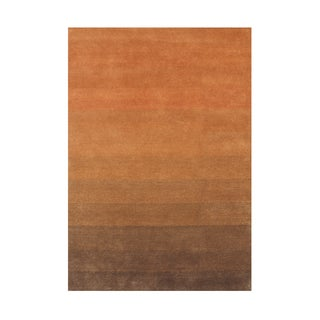 Alliyah Orange/ Brown Wool Rug (8'x10')