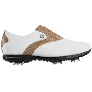 FootJoy Tailored Golf Shoes Womens White/Khaki
