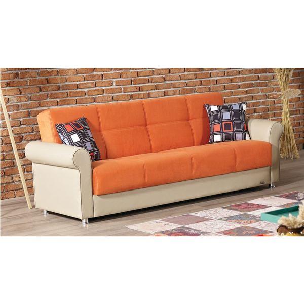 Sleeper Sofa Overstock: Shop Pacific Orange Sleeper Sofa With Storage