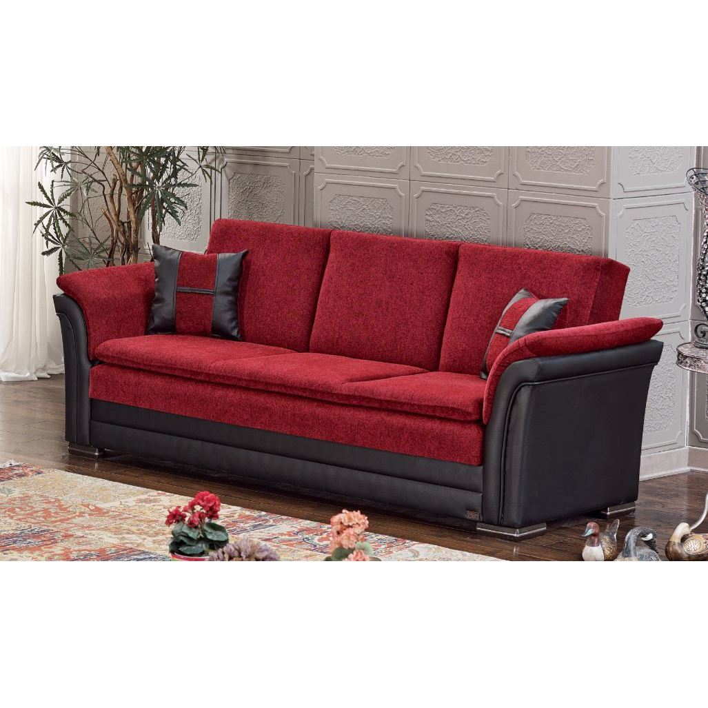 Marvelous Austin Red Wood And Fabric Sleeper Sofa With Storage Pdpeps Interior Chair Design Pdpepsorg