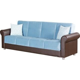 Columbus Blue Storage Sleeper Sofa