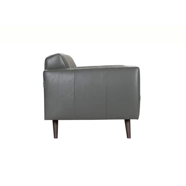 Awe Inspiring Shop Acme Furniture Adda Grey Italian Made Leather Sofa Dailytribune Chair Design For Home Dailytribuneorg