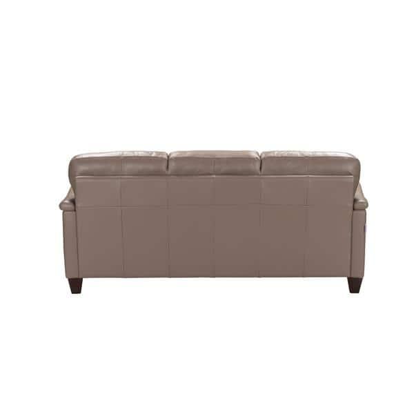 Acme Furniture Belfast Taupe Italian-made Leather Sofa