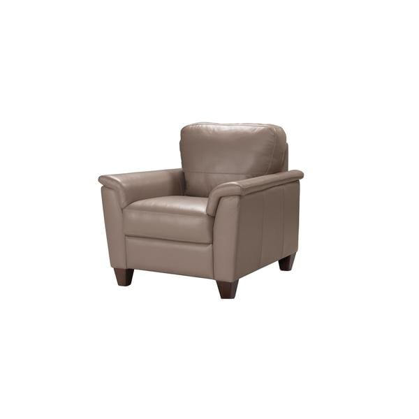 Acme Furniture Belfast Taupe Leather Italian-made Chair
