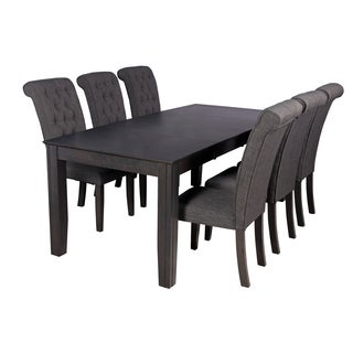 chelsea Seven Piece Dining Set In Dark Gray