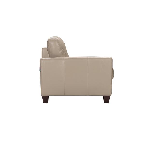 Shop Acme Furniture Roma Sand Leather Italian Made Sleeper Sofa