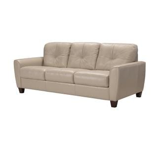Acme Furniture Roma Sand Leather Italian-made Sleeper Sofa | Overstock.com  Shopping - The Best Deals on Sofas & Couches