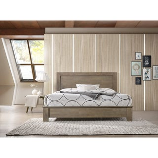 Alsa Queen Bed Light Grey