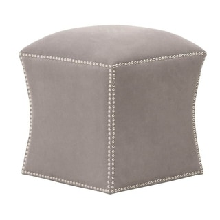 Granite Square Grey Fabric Ottoman